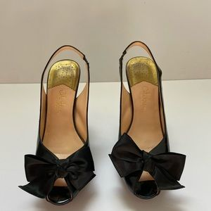 Cole Haan heels with bows, size 8.5